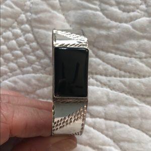 Jewelry - Silver and Onyx Bracelet